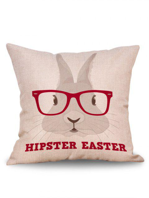 Hipster Easter Rabbit Pattern Sofa Pillowcase - RED W18 INCH * L18 INCH