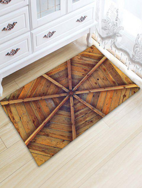 Vintage Board Print Water Absorption Area Rug - WOOD COLOR W20 INCH * L31.5 INCH