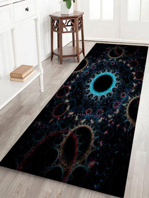 Circle Print Anti-skid Floor Area Rug - COLORMIX W24 INCH * L71 INCH