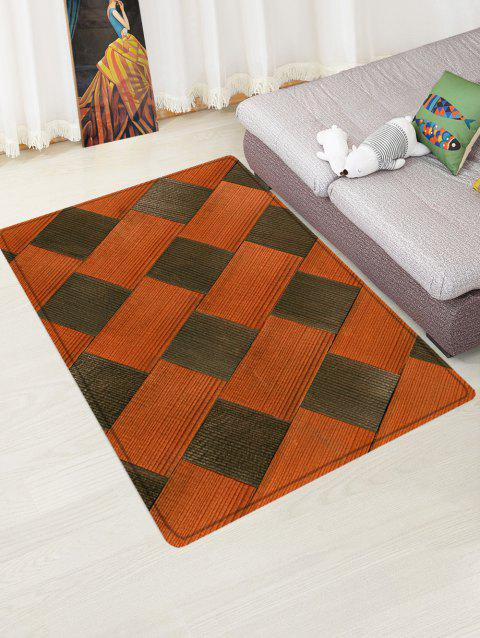 Color Block Pattern Anti-skid Floor Area Rug - COLORMIX W16 INCH * L24 INCH