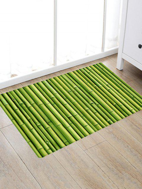 Bamboo Pole Print Floor Area Rug - GREEN W20 INCH * L31.5 INCH