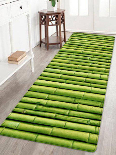 Bamboo Pole Print Floor Area Rug - GREEN W24 INCH * L71 INCH