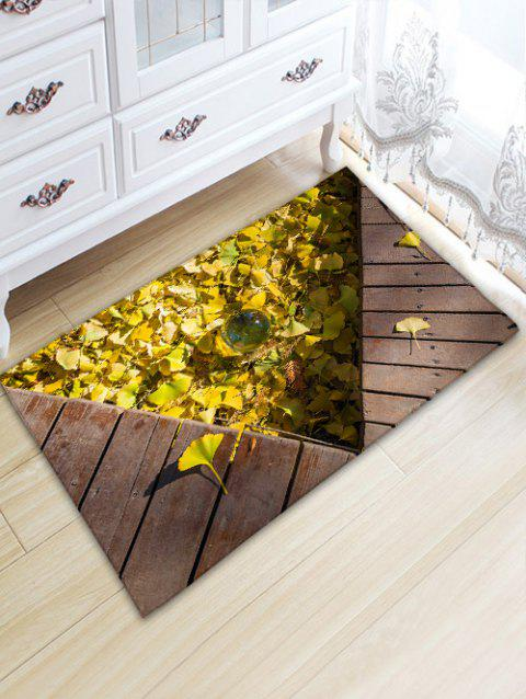 Leaf Planks Crystal Ball Pattern Water Absorption Area Rug - WOOD COLOR W20 INCH * L31.5 INCH