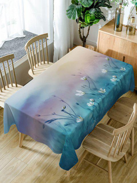 Floral Pattern Waterproof Dining Table Cloth - COLORMIX W54 INCH * L72 INCH
