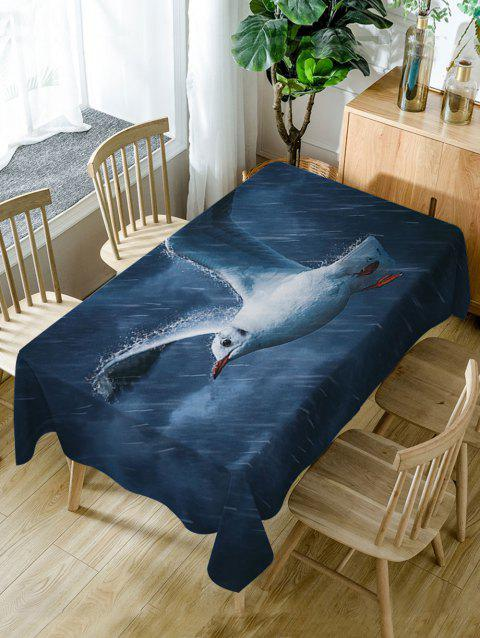 Pigeon Rainy Print Waterproof Dining Table Cloth - DARK BLUE W54 INCH * L54 INCH