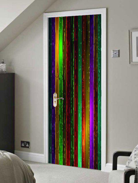 Colorful Wooden Board Printed Door Decals - COLORFUL 38.5*200CM*2PCS