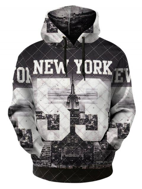 3D Pattern Pullover Hoodie - COLORMIX 3XL