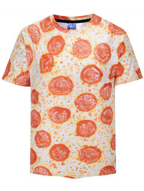 T-shirt Imprimé Pizza Pepperoni - multicolore M
