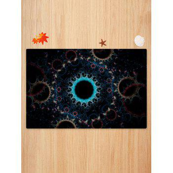 Circle Print Anti-skid Floor Area Rug - COLORMIX W20 INCH * L31.5 INCH