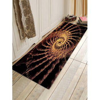 Patterned Anti-skid Floor Area Rug - BLACK BROWN W24 INCH * L71 INCH