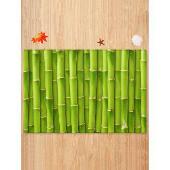 Bamboos Pattern Anti-skid Floor Area Rug - GREEN W20 INCH * L31.5 INCH