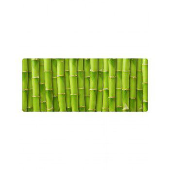 Bamboos Pattern Anti-skid Floor Area Rug - GREEN W24 INCH * L71 INCH