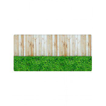 Wood Board Lawn Pattern Floor Area Rug - GREEN W24 INCH * L71 INCH