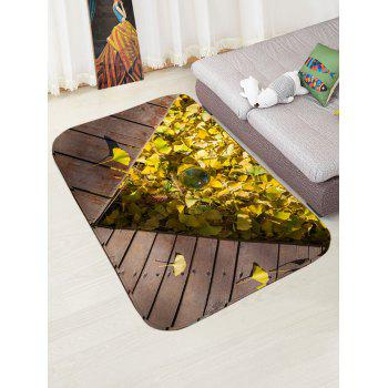 Leaf Planks Crystal Ball Pattern Water Absorption Area Rug - WOOD COLOR W16 INCH * L24 INCH