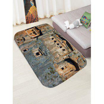 Rock Room Print Water Absorption Area Rug - COLORMIX W16 INCH * L24 INCH