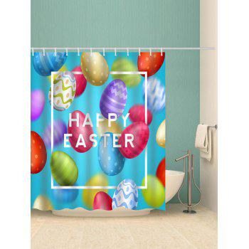 2018 Easter Colorful Eggs Print Waterproof Shower Curtain COLORMIX W ...