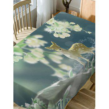 Deer Print Waterproof Dining Table Cloth - COLORMIX W54 INCH * L72 INCH