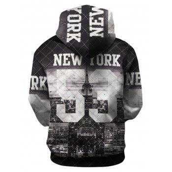 3D Pattern Pullover Hoodie - COLORMIX L