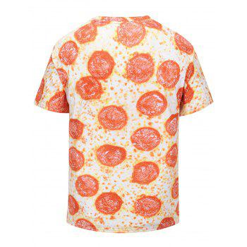 Pepperoni Pizza Print T-shirt - COLORMIX L