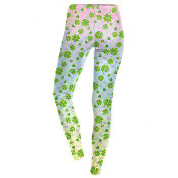 Lucky Four Leaf Leggings - COLORMIX S