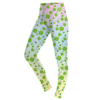 Lucky Four Leaf Leggings - COLORMIX M