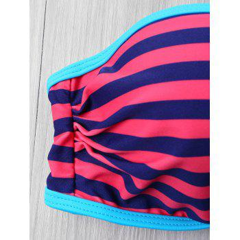 Push Up Striped Bikini - COLORMIX L