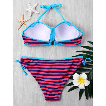 Bikini Rayé Push Up Pigeonnant - multicolore 2XL