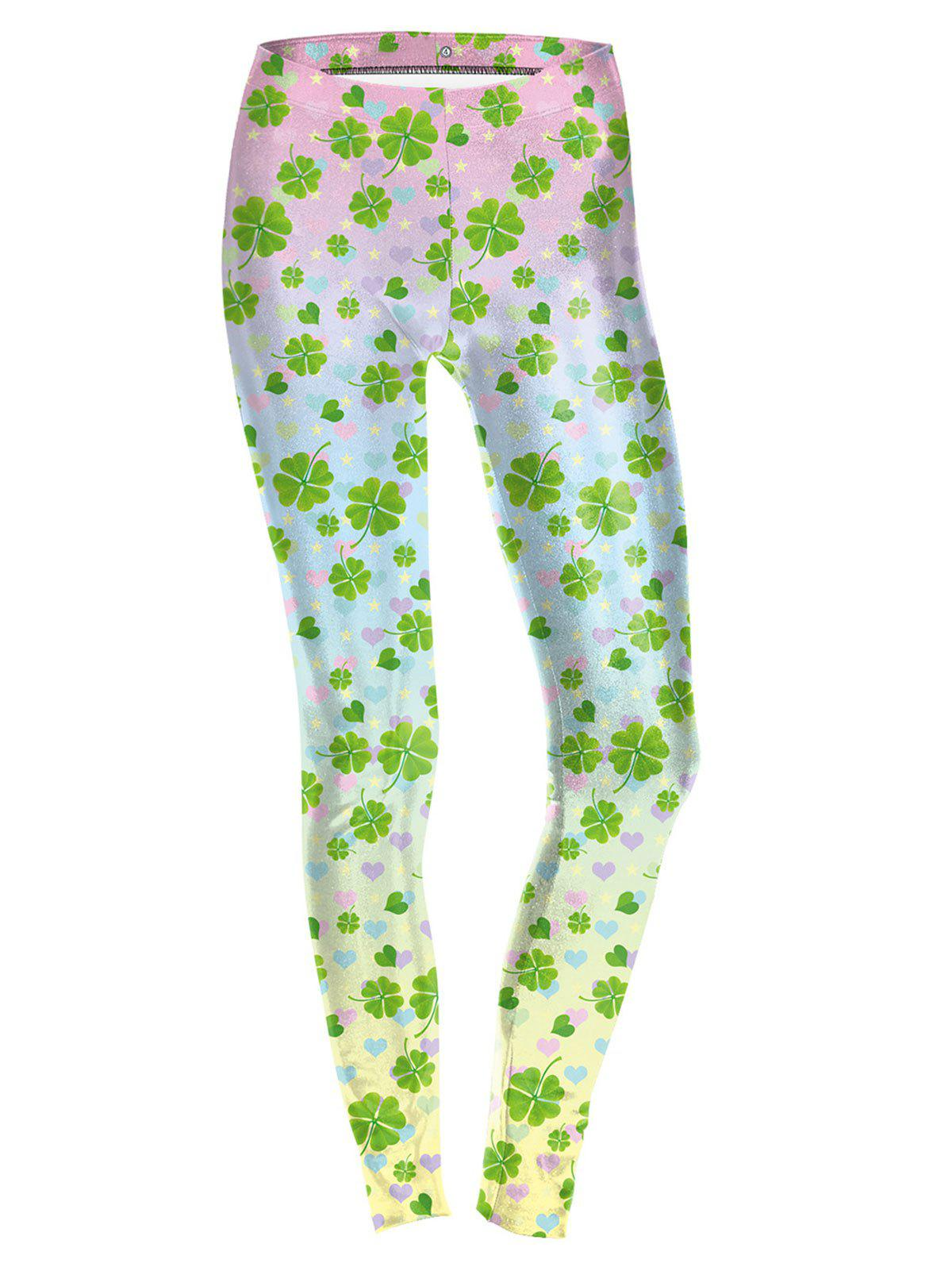 Lucky Four Leaf Leggings - COLORMIX XL