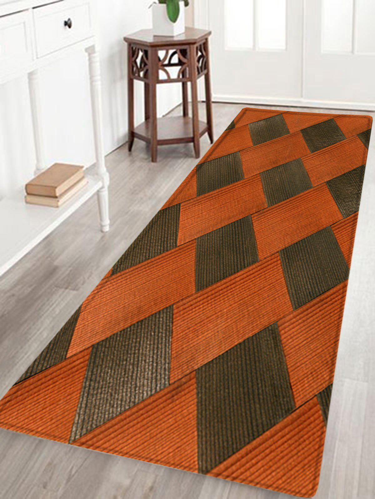 Color Block Pattern Anti Skid Floor Area Rug   COLORMIX W24 INCH * L71 INCH