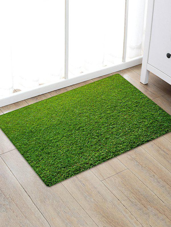 Lawn Pattern Anti-skid Throw Area Rug - GREEN W20 INCH * L31.5 INCH