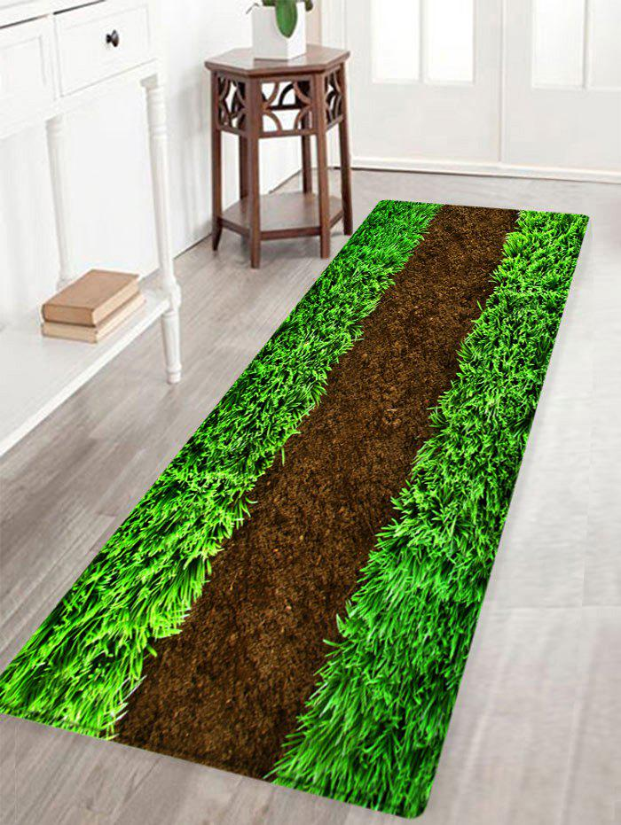 Lawn Pattern Anti-skid Floor Area Rug - GREEN W16 INCH * L47 INCH