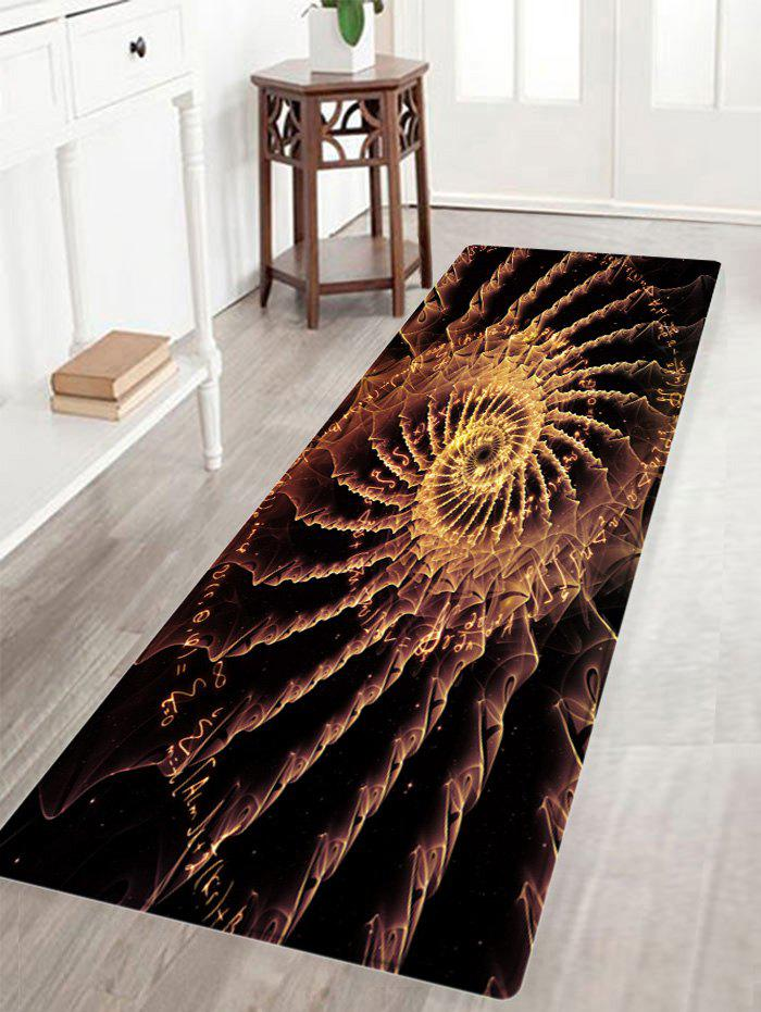 Patterned Anti-skid Floor Area Rug - BLACK BROWN W16 INCH * L47 INCH