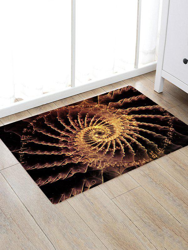 Patterned Anti-skid Floor Area Rug - BLACK BROWN W16 INCH * L24 INCH
