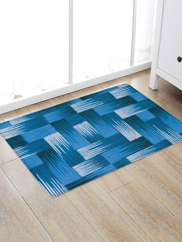 Patterned Anti-skid Throw Floor Rug - BLUE W16 INCH * L24 INCH