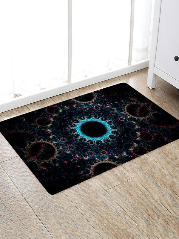 Circle Print Anti-skid Floor Area Rug - COLORMIX W16 INCH * L24 INCH