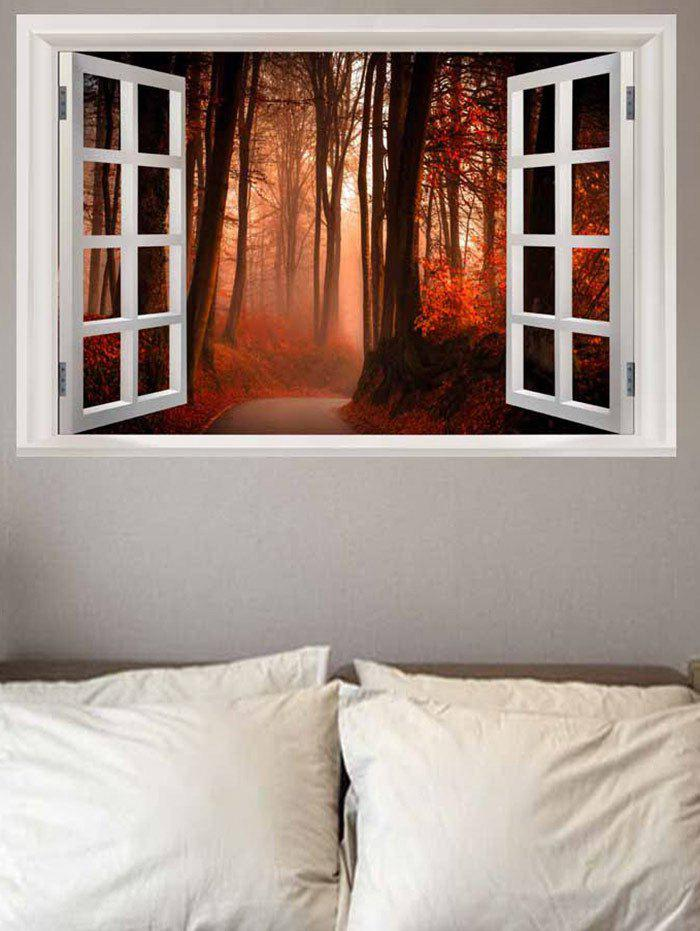 Maple Leaves Forest Pathway Printed Wall Sticker tropical leaves wall sticker