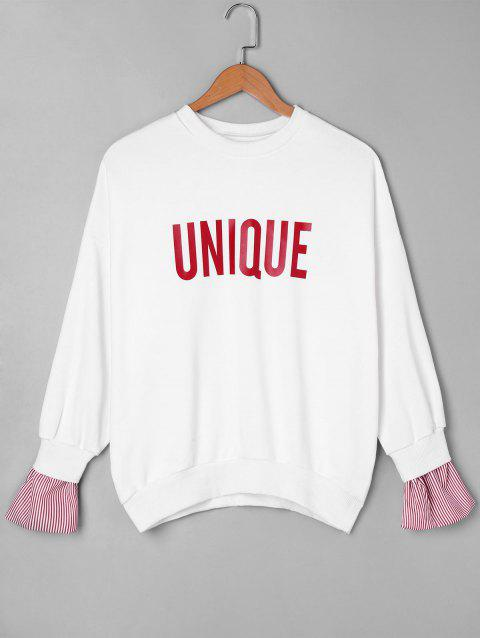 Sweat-shirt Unique à Panneau Rayé - Rouge ONE SIZE