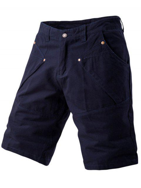 Short Cargo Design Poches avec Empiècements - Cadetblue 32