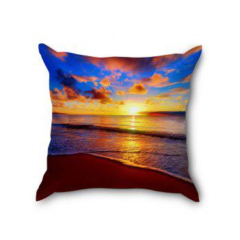 Sea Sunset Clouds Print Decorative Pillow Cover - COLORFUL W18 INCH * L18 INCH
