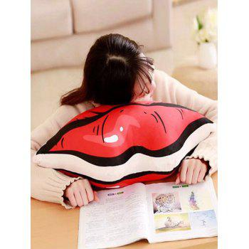 Lip Pattern Soft Throw Pillow - RED 80*40CM
