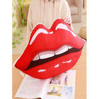 Lip Pattern Soft Throw Pillow - BRIGHT RED 60*30CM
