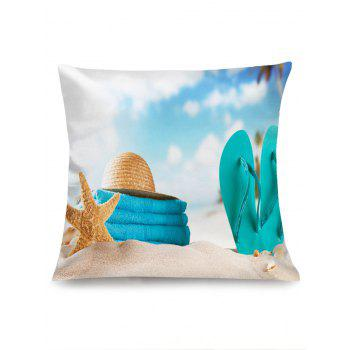 Summer Beach Theme Home Decor Pillowcase - CLOUDY W18 INCH * L18 INCH