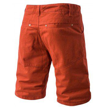 Panel Design Pockets Cargo Shorts - JACINTH 36