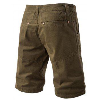 Panel Design Pockets Cargo Shorts - ARMY GREEN 34