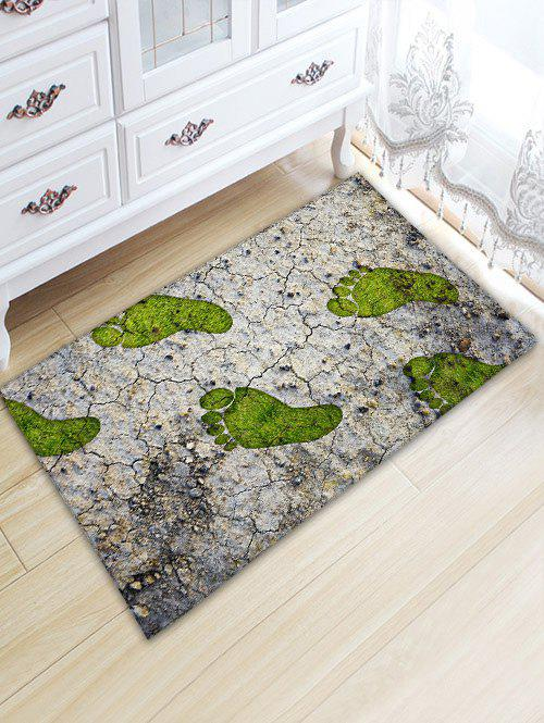 Cracked Land Footprint Print Anti-skid Floor Rug - COLORMIX W20 INCH * L31.5 INCH