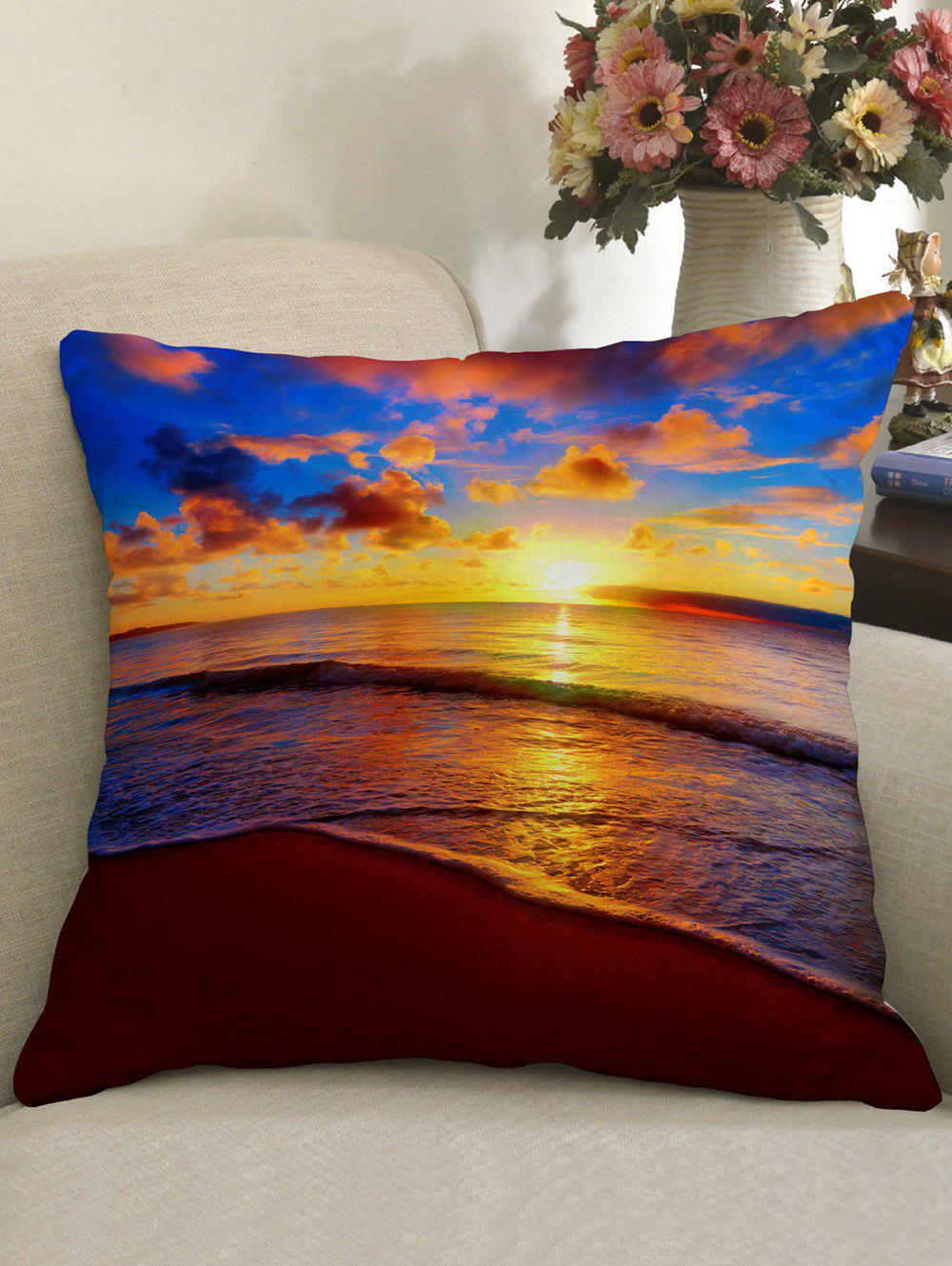 Sea Sunset Clouds Print Decorative Pillow Cover clouds without rain