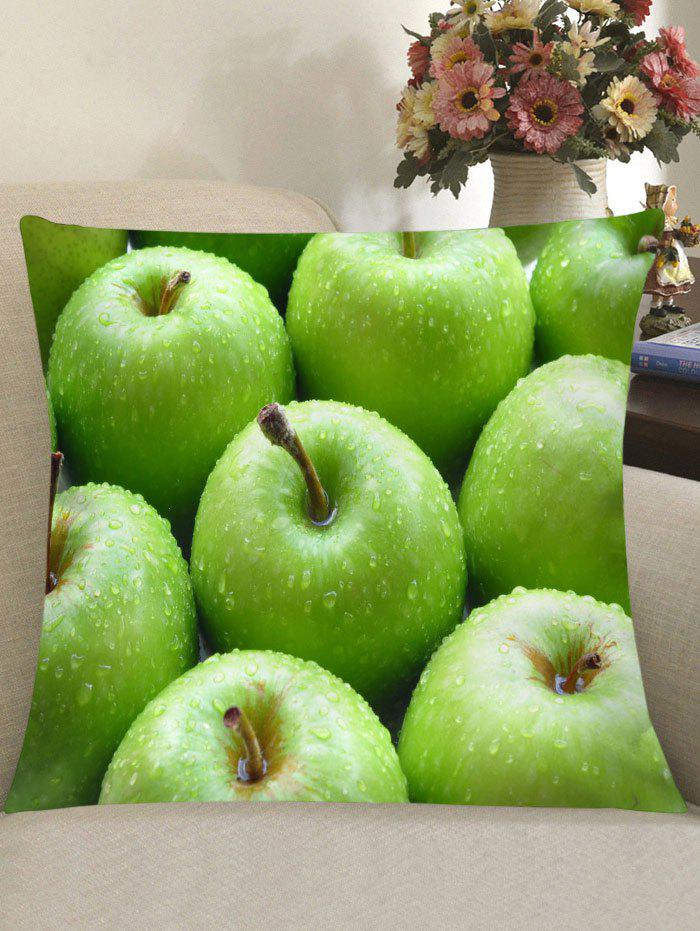 Fresh Apples Print Square Throw Pillow Case - GREEN W18 INCH * L18 INCH