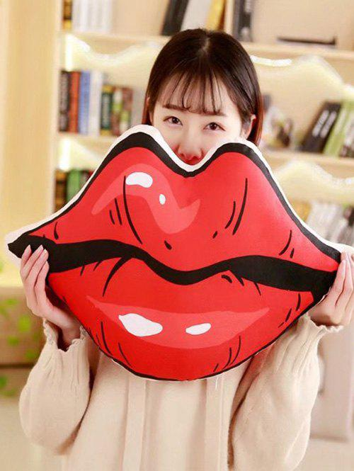 Lip Pattern Soft Throw Pillow - RED 60*30CM