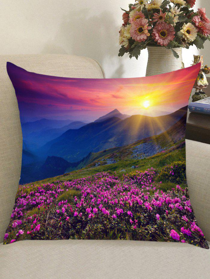 Morning Sunlight Lavender Grassland Print Throw Pillow Case merry christmas grass cushion throw pillow case