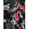 Plus Size Flower Tankini Set - BLACK 2X